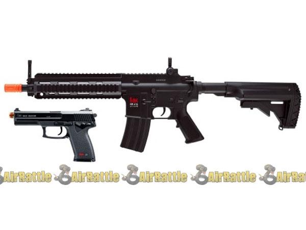 H&K 416 & MK23 Combat Kit AEG Airsoft Rifle Full Auto Electric Gun By Umarex