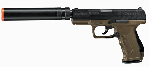 2272024 walther p99 airsoft pistol with silencer and extra magazine