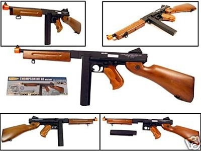 OVERSTOCK BLOWOUT SALE! 465 FPS M1A1 Thompson Metal Airsoft Rifle Licensed  AEG Electric Gun
