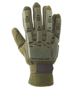 48580 V-Tac Full Finger Polymer Armored Tactical Gloves OD Green Small