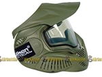 SLY ANNEX MI-7 Ventilated Full Face Airsoft Mask w/ Thermal Lens (OD Green)