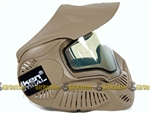 SLY ANNEX MI-7 Ventilated Full Face Airsoft Mask w/ Thermal Lens (Tan)