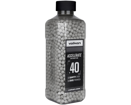 Valken Accelerate .40g 6mm Precision Seamless Airsoft BBs (2500) (93535)
