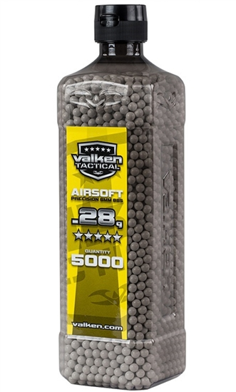 Valken Tactical .28g 6mm Precision Seamless Airsoft BBs (5000)