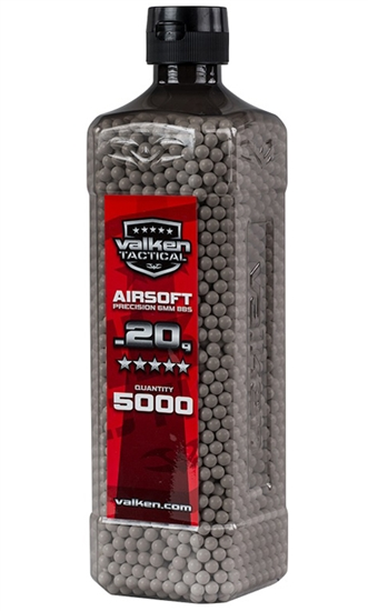 Valken Tactical .20g 6mm Precision Seamless Airsoft BBs (5000)