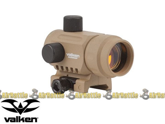 Valken Tactical Adjustable Mini Red Dot Sight Tan