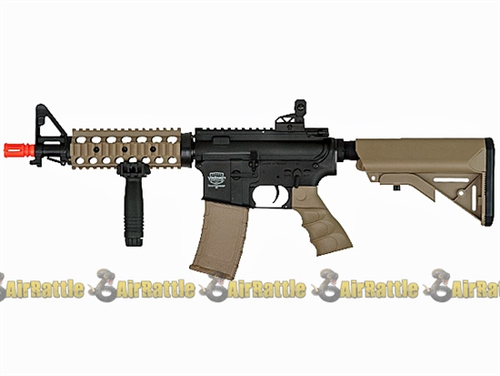 "Valken Battle Machine 7"" RIS CQB M4 Airsoft AEG Gun - Black / Tan"