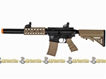 Valken Battle Machine M4 SD RIS Airsoft AEG Gun Black / Tan