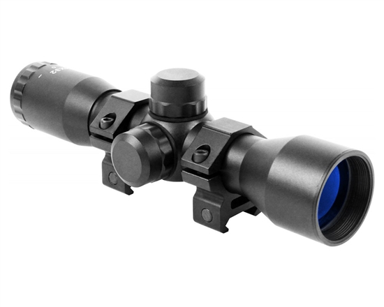 Aim Sports Rifle Scope - Tactical Series - 4X32mm Compact w/ Mil-Dot Reticle (JTM432B)