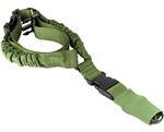 Aim Sports Rifle Sling - One/Single Point Bungee - Green (AOPS01G)