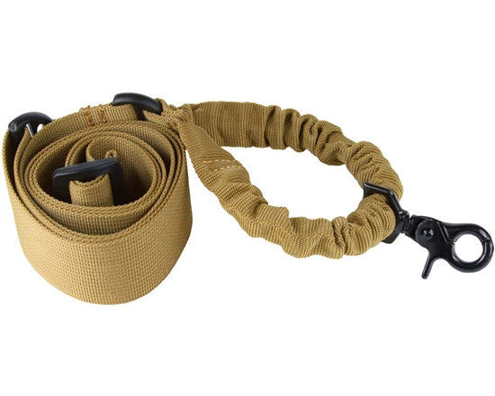 Aim Sports Rifle Sling - One/Single Point Bungee - Tan (AOPST)
