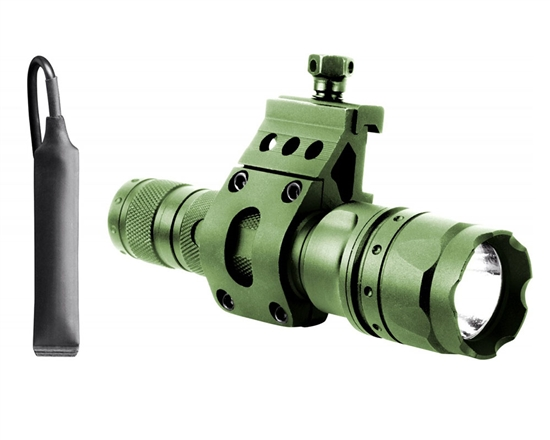Aim Sports Flashlight - 180 Lumen w/ 45 Degree Offset Mount (Green) (FHD180G)