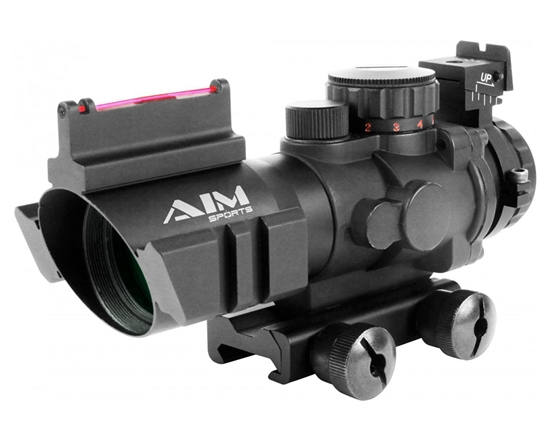 Aim Sports Rifle Scope - Prismatic Series - 4X32mm w/ Rapid Ranging Reticle (JTDFO432G)