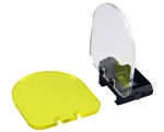 Aim Sports Flip Up Sight Lens Shield (Clear & Yellow)