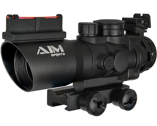 Aim Sports Rifle Scope - Prismatic Series - 4X32mm w/ Tri-Illumination & Arrow Reticle (JTAPO432G)