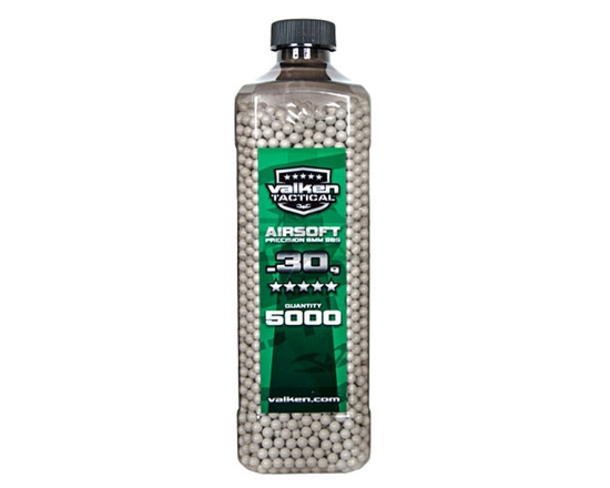 Valken Tactical .30g 6mm Precision Seamless Airsoft BBs (5000)
