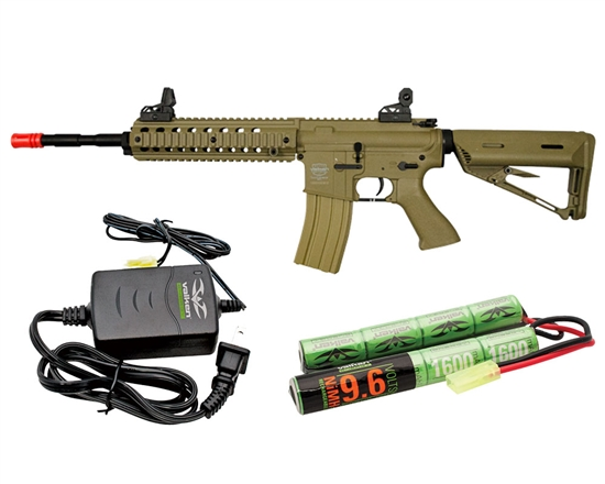 Valken Battle Machine V2.0 Mod-L AEG Airsoft Rifle Combo Kit - DST