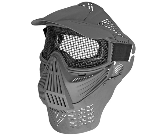 Full Coverage Mesh Goggles w/ Neck Guard- Black