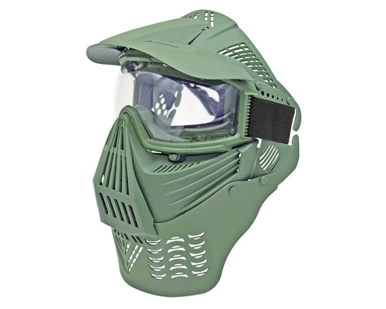 Full Coverage Goggles w/ Neck Guard - Green