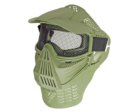 Full Coverage Mesh Goggles w/ Neck Guard - Green