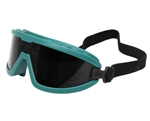Safety Goggles - Green w/ Black Mirrored Lens
