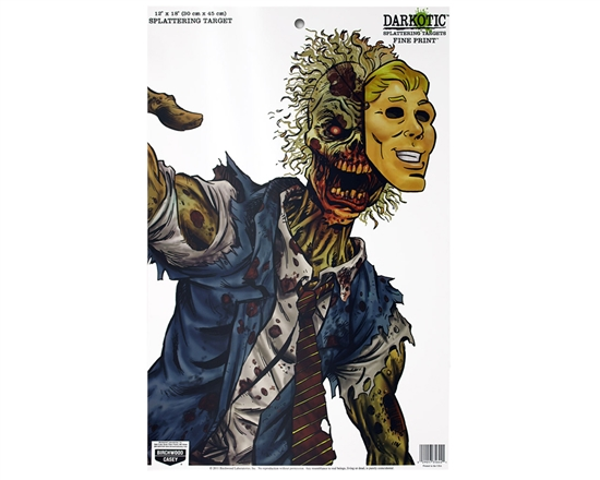 "3 Pack - 12"" x 18"" Shooting Targets - Darkotic Splatter Zombie"