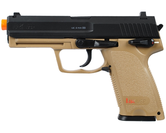 Elite Force H&K USP CO2 Non-Blowback Airsoft Pistol Licensed By Umarex Dark Earth