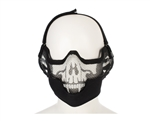 2G Striker Full Metal Face Mask w/ Ear Guard - Skull