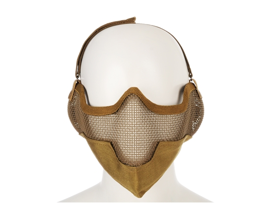 2G Striker Full Metal Face Mask w/ Ear Guard - Tan