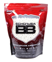 "ECHO 1""Match Grade"" .20g 5000 Airsoft BBs"