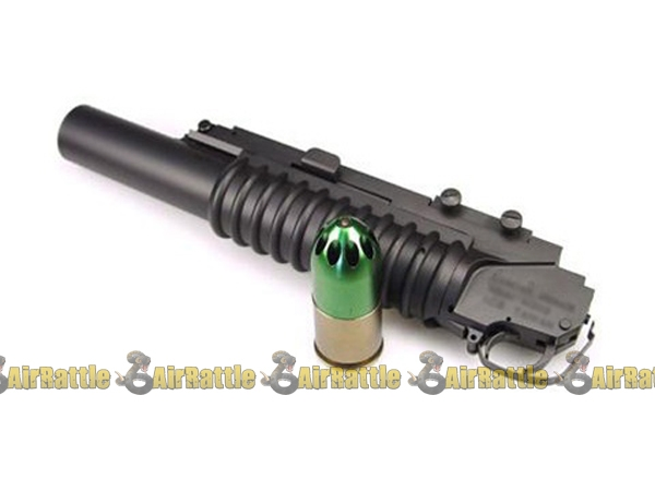 dboys m203 airsoft gas grenade launcher mount on rifles bim 203l