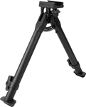 AIM Sports Tactical Short Bipod Fits RIS / Weaver Rails w/ Adjustable Legs