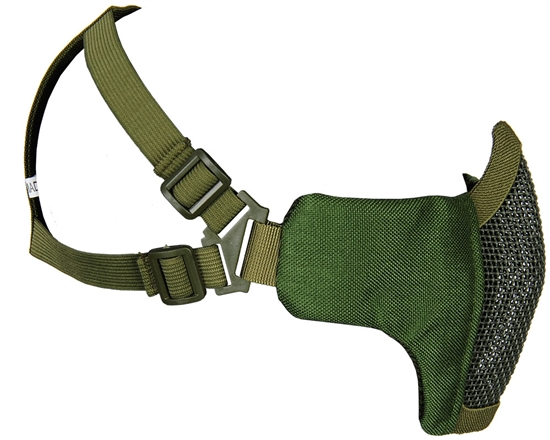 Bravo Airsoft Tactical Metal Mesh Face Mask - V3 Strike - Olive Drab