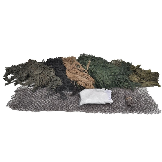 Bushrag Tactical Airsoft Customizable Ghillie Kit - Large - Woodland (65110)