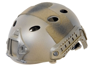 Lancer Tactical FAST PJ Type Helmet w/ Rail and NVG Mounts ( Navy Seal Tan )
