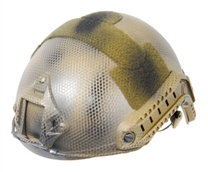 Lancer Tactical FAST MH Type Helmet w/ Rail and NVG Mounts ( Navy Seal Tan )