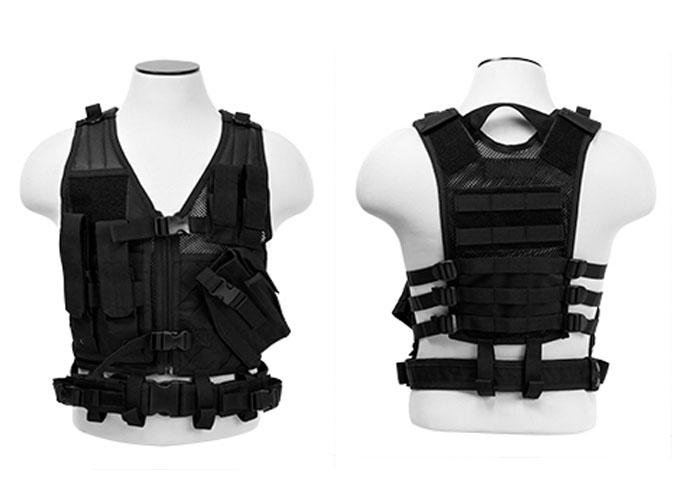 Ncstar Children S Tactical Cross Draw Zip Up Vest W Belt