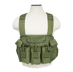 CVAKCR2921G NcStar AK Chest Rig w/ Built In Pouches ( Green )