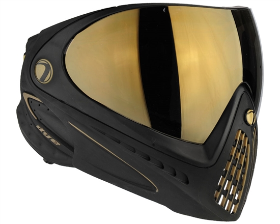 Dye Tactical i4 Thermal Full Face Mask Goggle System ( Black/Gold )