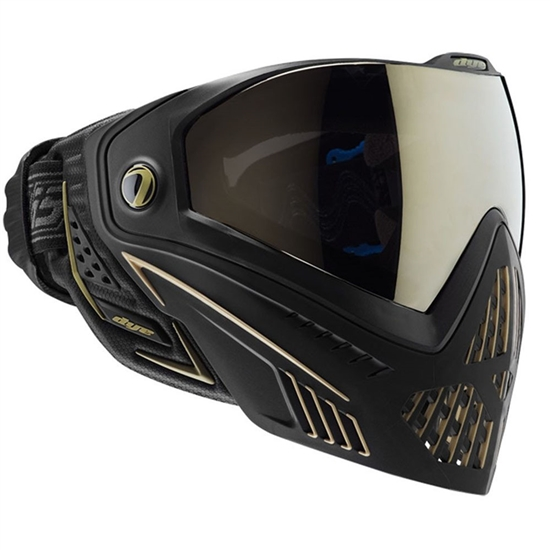 Dye Tactical i5 Thermal Full Face Mask Goggle System ( Onyx/Gold )