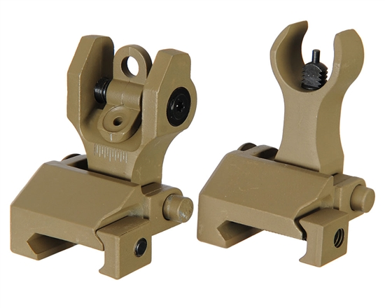 Echo1 Back Up Airsoft Iron Sights - Tan