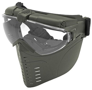 Tactical Airsoft Face Mask w/ Built In Ventilation Fan ( OD Green )