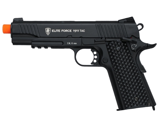 Elite Force CO2 Airsoft Pistol Blowback Hand Gun - 1911 Tactical - Black