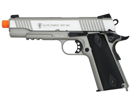 Elite Force CO2 Airsoft Pistol Blowback Hand Gun - 1911 Tactical - Silver