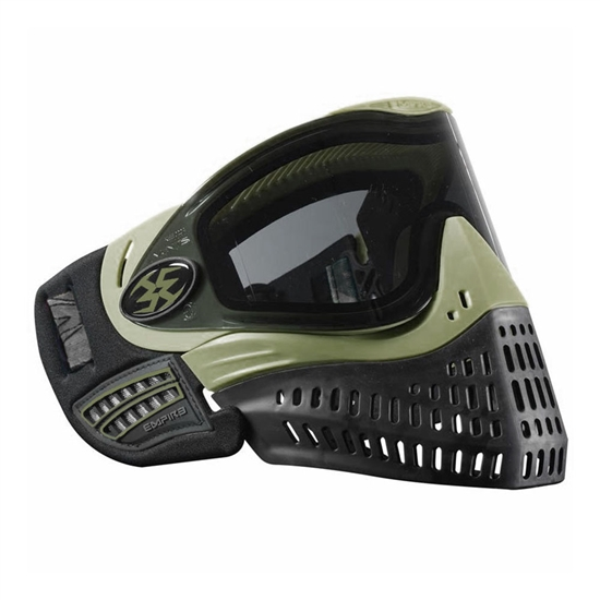 Empire Tactical E-Flex Full Face Airsoft Mask - SE Olive w/ Smoke Lens