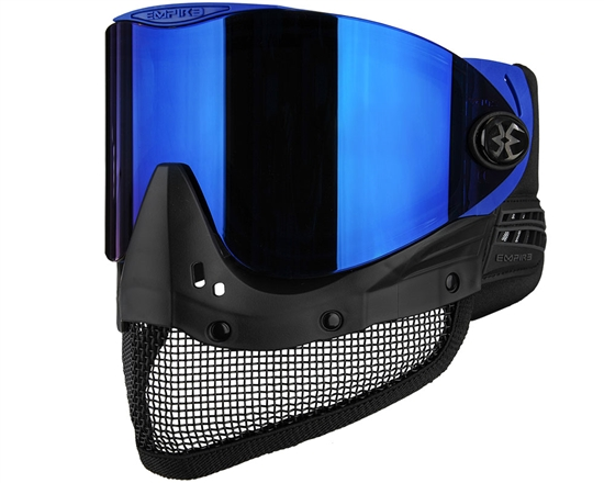 Empire Tactical E-Mesh Full Face Airsoft Mask - Blue w/ Blue Mirror Lens