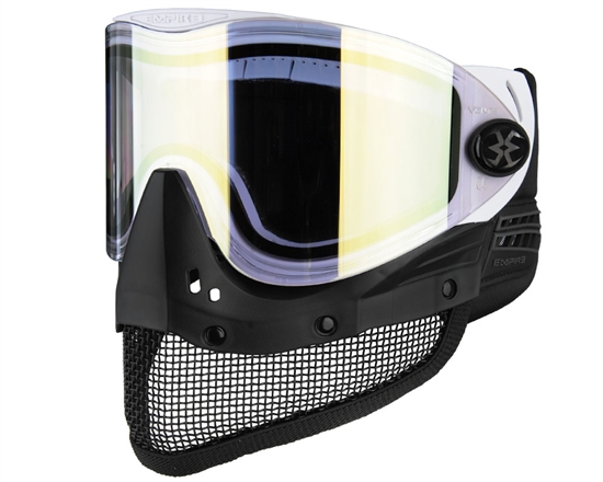 Empire Tactical E-Mesh Full Face Airsoft Mask - White w/ Gold Mirror Lens
