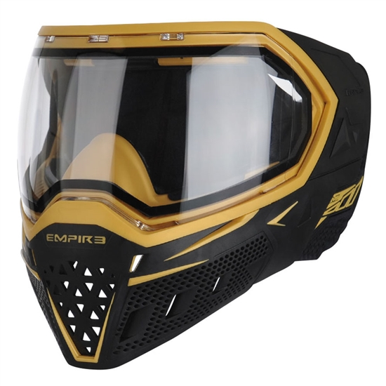 Empire Tactical EVS Full Face Airsoft Mask - Black/Gold