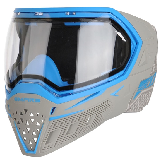 Empire Tactical EVS Full Face Airsoft Mask - Grey/Cyan