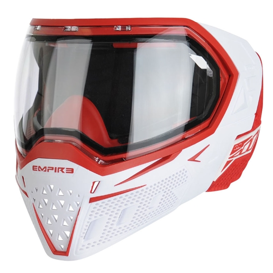 Empire Tactical EVS Full Face Airsoft Mask - White/Red